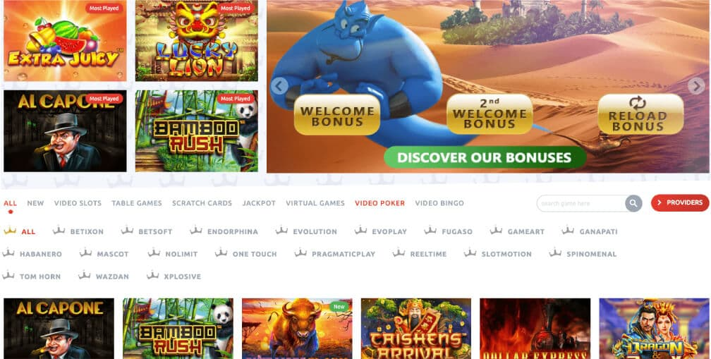 screenshot kingbit casino games
