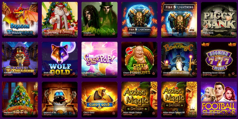 TrustDice Casino Screenshot view of the slot games