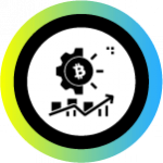 Financial services with bitcoin icon
