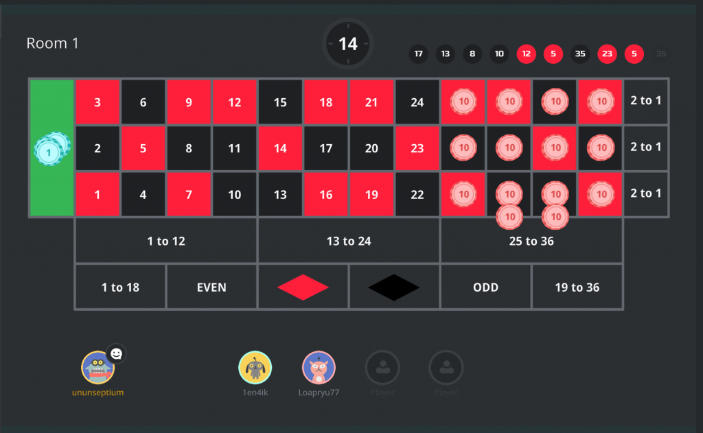 Rocket run roulette screenshot of the game