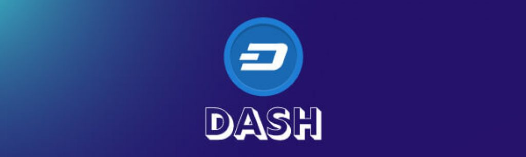 Dash coin text with logo