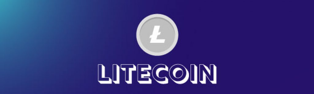 Litecoin text and icon