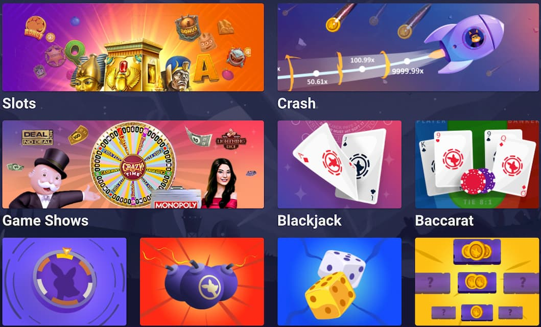 Screenshot Roobet Casino Homepage