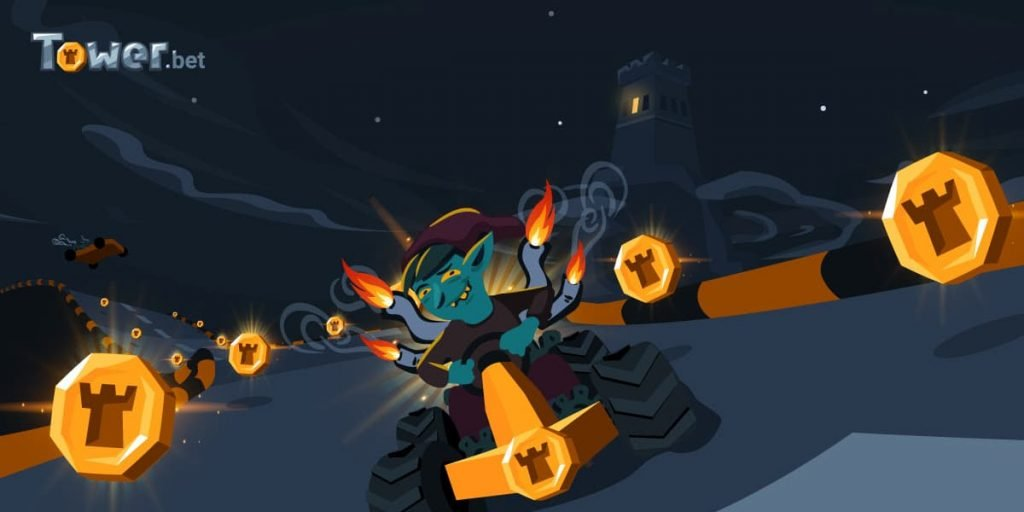 Goblin from Tower.bet casino racing to earn more coins