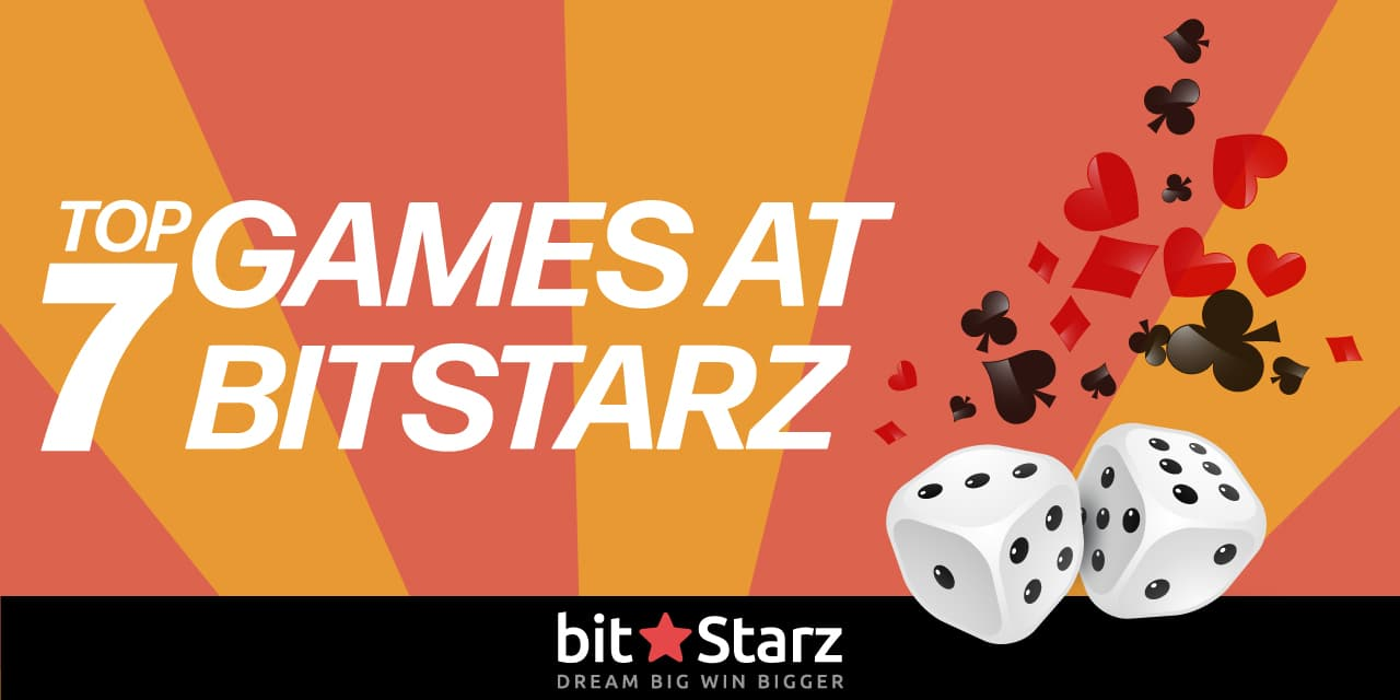 Dice with poker elements and text top games at bitstarz