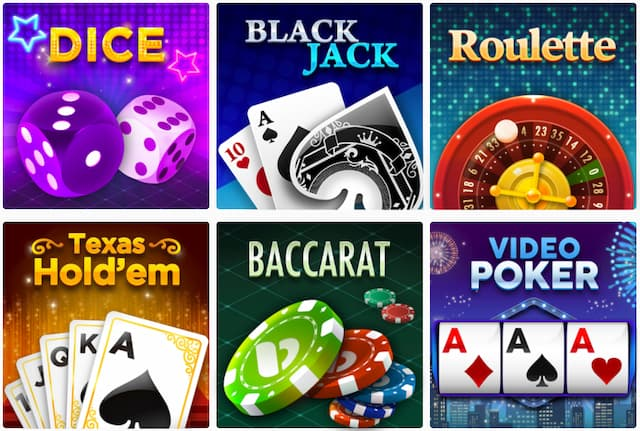 Screenshot with Bplay Casino proprietary games with their respective thumbnail