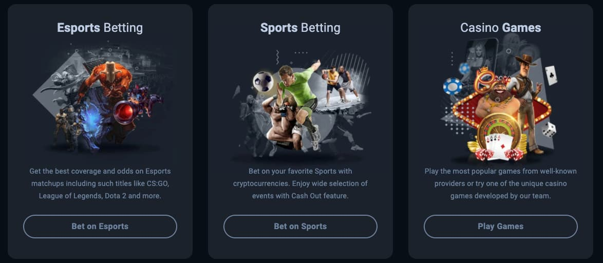 casino and sports offering on thunderpick